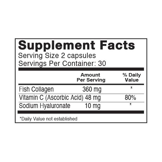 Private Label Collagen and Vitamin C Supplement Facts