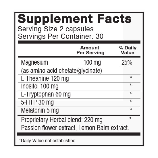 Private Label Sleep Formula Supplement Facts