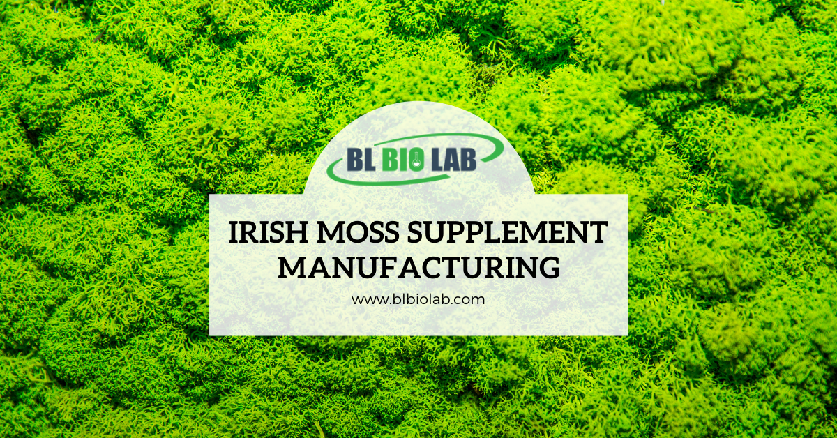 Irish Moss Supplement Manufacturing