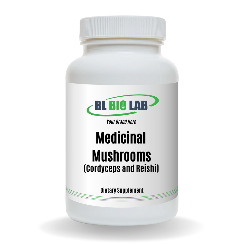 Private Label Mushrooms (Cordyceps and Reishi) Supplement Manufacturing