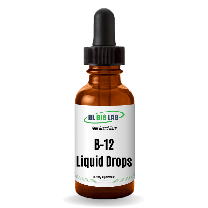 Private Label Liquid B-12 Drops Supplement Manufacturing