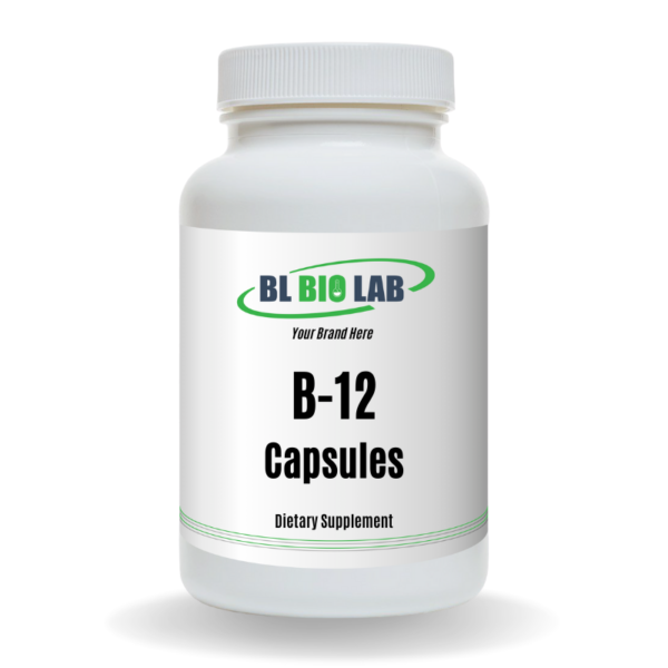 Private Label B-12 Capsule Supplement Manufacturing